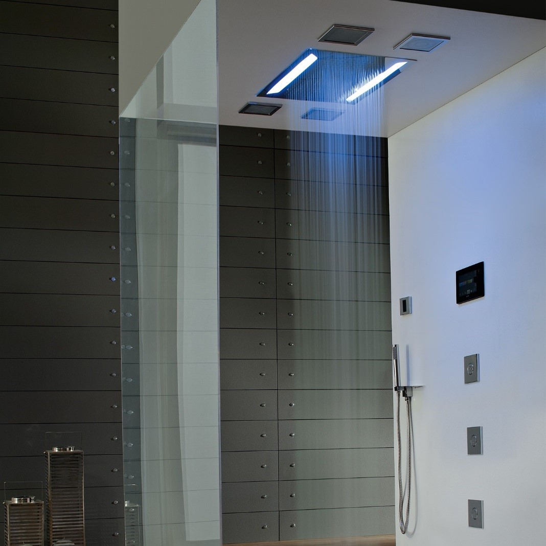 LED Rain Head Shower Fixture